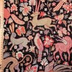Medieval Forest Animals Tapestry - Curtains Soft Furnishings Cotton Mix - Black